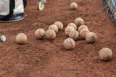 Dozzine di baseball fotografia stock