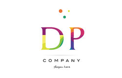 dp d p  creative rainbow colors alphabet letter logo icon Royalty Free Stock Photo