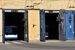 Dépôt d'autobus de chariot Photographie stock