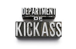 Département de Kickass Image stock