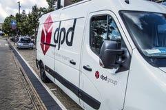 DPD Company Van At Diemen The Netherlands 2018 imagenes de archivo