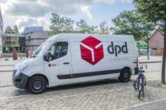 DPD Company Van At Diemen The Netherlands 2018 fotos de archivo