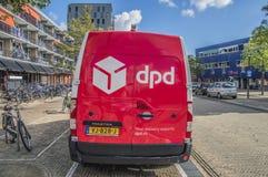 DPD Company Van At Diemen The Netherlands 2018 imágenes de archivo libres de regalías