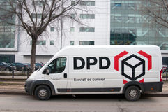 DPD courier van Royalty Free Stock Photo