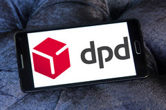 Dpd, Dynamic Parcel Distribution logo. Logo of dpd, Dynamic Parcel Distribution company on samsung mobile. Dynamic Parcel Distribution, widely known by its royalty free stock photo