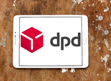 Dpd, Dynamic Parcel Distribution logo. Logo of dpd, Dynamic Parcel Distribution company on samsung tablet. Dynamic Parcel Distribution, widely known by its Royalty Free Stock Image