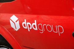 DPD-Logo stockfoto