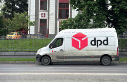 DPD van in the street Royalty Free Stock Photography