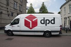 DPD Van At Weesp The Netherlands imagem de stock royalty free