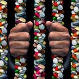 Dépendance de médicament délivré sur ordonnance Images libres de droits