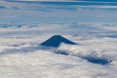 100 300dpi空中摄影机以后的d helens mt st蒸汽出气孔视图华盛顿 富士在日本 图库摄影