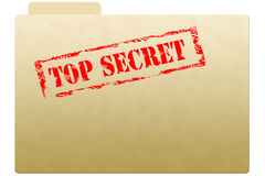 Dépliant secret de document Photos stock
