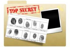 Dépliant secret de document Photo stock