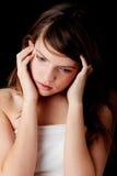 Dépression d'adolescente Photographie stock libre de droits