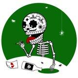 Dépression de squelettes Photos libres de droits