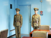 DPRK soldiers in the MAC. North Korean soldiers standing in the MAC (Military Armistice Commission Royalty Free Stock Photos