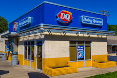 DQ Dairy Queen restaurant. Ephrata, PA - October 5, 2016: A Dairy Queen restaurant is a chain that serves ice cream, drinks, and fast food sandwiches Stock Photo