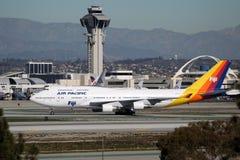 DQ-FJK Air Pacific Boeing 747-412 Imagens de Stock