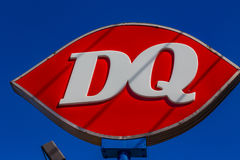 DQ-logotecken Arkivbild