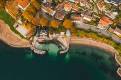 Drøbak, badeparken dans des couleurs d'automne images stock