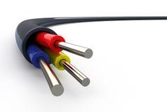 Drähte des elektrischen Seilzuges lizenzfreie abbildung