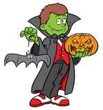 dräkt dracula halloween Arkivfoton