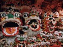 Dräkt för Hong Kong lejondans Arkivfoton