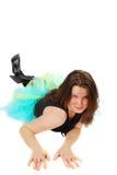 Dräkt för ståendebalettkvinna. Royaltyfria Bilder