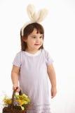 dräkteaster flicka little Royaltyfri Foto