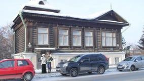 Dräkten av kejsaren av Ryssland Nicholas II Kejsare- och kurtisanstag nära museet Kejsare- och kurtisanmöte lager videofilmer