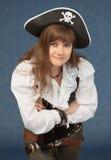 dräkten piratkopierar kvinnan Arkivfoto
