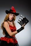 dräkten piratkopierar kvinnan Arkivfoton