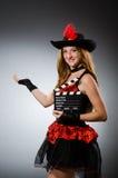 dräkten piratkopierar kvinnan Royaltyfria Bilder