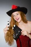 dräkten piratkopierar kvinnan Fotografering för Bildbyråer