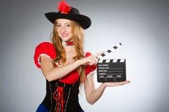 dräkten piratkopierar kvinnan Royaltyfria Foton