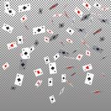 Dräkter för modellkort Kasino och form, garnering och lek och poker Vektorillustration på en genomskinlig bakgrund stock illustrationer