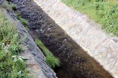 Dräneringkanal Royaltyfria Bilder