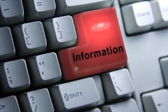 Drängen Sie auf Informationen lizenzfreies stockbild
