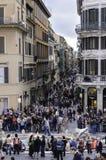 Drängen Sie sich auf dem eleganten Ort von Spanien, Rom stockbild