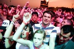 Drängen Sie sich (Fans) an FLUNKEREI (Festival Internacional de Benicassim) Festival 2013 Lizenzfreie Stockfotos