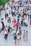 Drängen Sie sich an Xidan-Einkaufsviertel, Peking, China Lizenzfreies Stockfoto