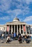 Drängt outsite des National Gallery lizenzfreie stockbilder