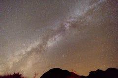 Dróg Mlecznych gwiazdy w Ciemnym niebie fotografia stock