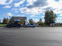 Dróg naprawy w Kaluga regionie w Rosja Obrazy Stock