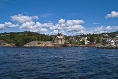 dröbaksundet (widok dröbak miasto) Obraz Royalty Free