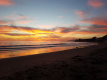 Dröm av en solnedgång Arkivfoto