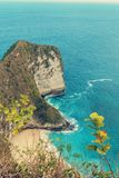 Dröm- Bali strand på den Nusa penidaen Arkivbilder