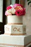 dröm- bröllop för cake Arkivbild