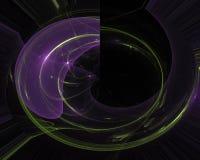 Dröm för design för fantasi för abstrakt fractalkaos samkopiering för fiktion för Digital idérik overklig dynamisk futuristisk gr royaltyfri illustrationer