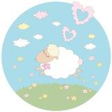 Dröm för ett vitt lamm Arkivbild